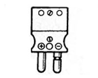Series 17000 Standard Connectors - Male Convenience Connector w/ Protected Terminal Connections, Solid Pins